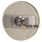Zamel Кнопка звонка декоративная круглая, PDK 252