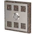 Zamel Кнопка звонка декоративная квадратная (темный), PDK 251(темный)