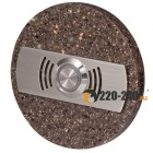 Zamel Кнопка звонка декоративная круглая (темный), PDK 252(темный)