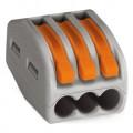 Wago Клемма соединительная 3-проводная,сечение провода 0,08-4 мм² (222-413)