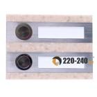 Zamel Кнопка звонка 2-я декоративная прямоугольная, PDK 250/2